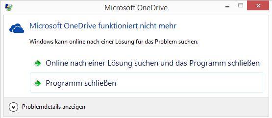 OneDrive funktioniert nicht