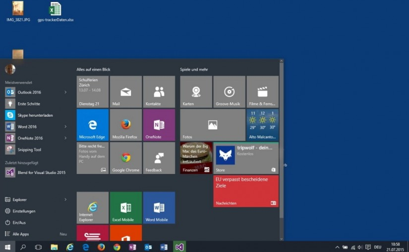 Windows 10 Insider Preview, Build 10240 auf dem PC