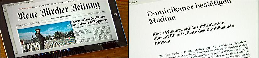 NZZ: E-Paper als App für iOS, Android und Windows