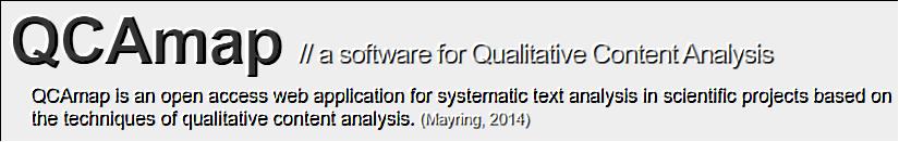 QCAmap: Online-Software für qualitative Inhaltsanalyse